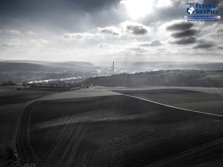 Panoramablick Obernburg Felder