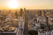 Drohnenaufnahme in Buenos Aires.