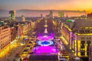 Drohnenaufnahmen des Düsseldorfer Weihnachtsmarkst für Comfort Offices auf der Königsallee