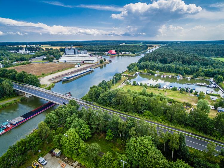 Luftaufnahme vom Wittinger Hafen