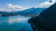 Der Walchensee in Bayern im Sommer 2020