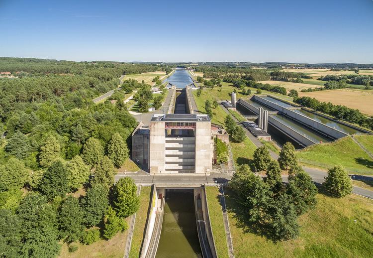 Rhein-Main-Donau-Kanal-Schleuse bei Hilpoltstein